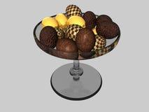 Ciotola di uova di cioccolato royalty illustrazione gratis
