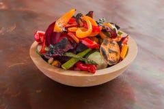 Ciotola di verdure di recente cucinate Fotografia Stock