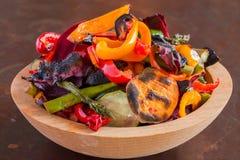 Ciotola di verdure di recente cucinate Fotografia Stock Libera da Diritti