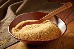 Ciotola di zucchero bruno Immagine Stock