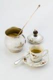 Ciotola di zucchero e della tazza di caffè Fotografie Stock