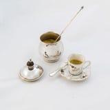 Ciotola di zucchero e della tazza di caffè Immagini Stock