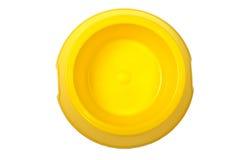 Ciotola gialla vuota Immagini Stock Libere da Diritti