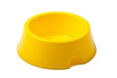Ciotola gialla vuota Fotografia Stock