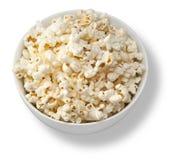 Ciotola isolata di popcorn immagine stock
