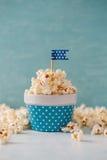 Ciotola macchiata di popcorn Fotografia Stock Libera da Diritti