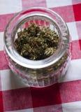 Ciotola medica 3 della marijuana immagini stock