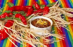 Ciotola messicana di peperoncino rosso Immagine Stock Libera da Diritti