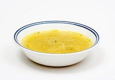 Ciotola semplice di minestra di pollo Immagini Stock Libere da Diritti