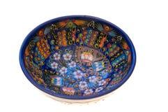 Ciotola turca di ceramica Immagine Stock