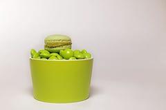 Ciotola verde del cioccolato Fotografia Stock