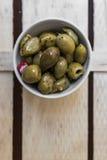 Ciotola verde oliva Fotografie Stock