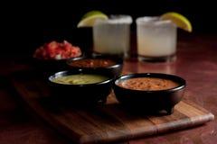 Ciotole & mojitos della salsa Fotografia Stock Libera da Diritti