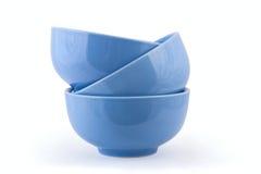 Ciotole blu fotografia stock libera da diritti