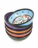 Ciotole ceramiche turche Fotografia Stock Libera da Diritti