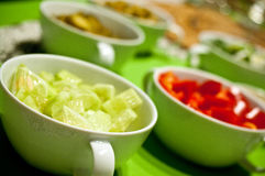 Ciotole coreane dell'alimento Fotografie Stock