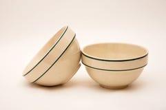 Ciotole di ceramica Fotografia Stock Libera da Diritti