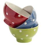 Ciotole di Ceramik isolate su bianco Immagine Stock