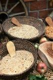 Ciotole di chicchi di grano Fotografia Stock Libera da Diritti