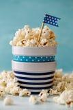 Ciotole di popcorn Fotografie Stock Libere da Diritti