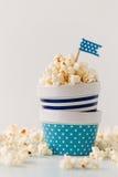 Ciotole di popcorn Fotografia Stock Libera da Diritti
