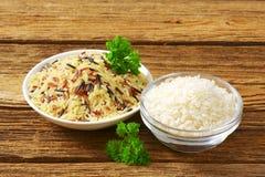 Ciotole di riso Immagini Stock