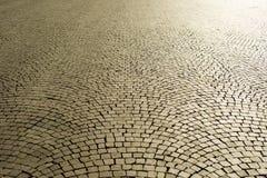 Ciottoli di pavimentazione urbani Fotografie Stock Libere da Diritti