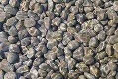 Ciottoli di pietra naturali in acqua fotografia stock