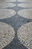 Ciottoli modellati tradizionali portoghesi a Lagos Portogallo Fotografie Stock Libere da Diritti