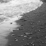 Ciottoli su una spiaggia Immagini Stock