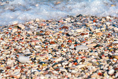 Ciottoli variopinti sulla spiaggia Immagine Stock Libera da Diritti