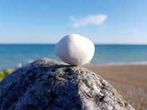 Ciottolo su una roccia Immagini Stock