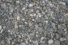 Ciottolo sulla spiaggia sul fondo di struttura del modello dell'estratto di giorno soleggiato immagine stock libera da diritti