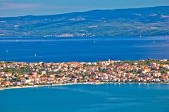 Ciovo island aerial panoramic view Stock Photo