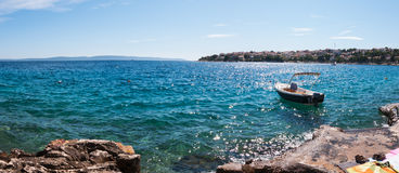 Ciovo Island coast, Croatia. Royalty Free Stock Image