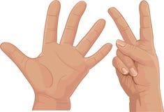cipher δάχτυλα επτά απεικόνιση αποθεμάτων