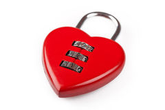 Cipher in shape of a heart Royalty Free Stock Image