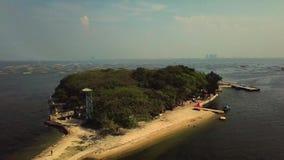 The Cipir island. Is one of thousand island Jakarta Indonesia stock video