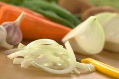 Cipolla affettata Fotografia Stock