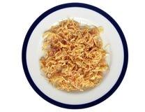 Cipolla della frittura sul piatto Fotografia Stock