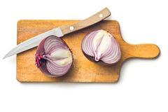 Cipolla divisa in due Immagine Stock