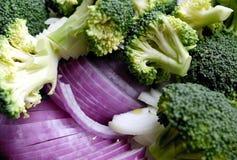 Cipolla e broccolo Fotografie Stock