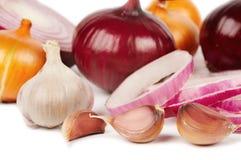 Cipolla ed aglio Immagini Stock
