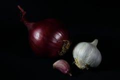 Cipolla ed aglio Immagine Stock