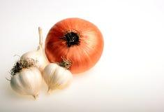Cipolla ed aglio fotografie stock