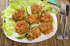 Cipolla indiana Bhajias dell'antipasto Immagine Stock