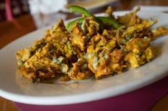 Cipolla indiana Pakora fotografie stock