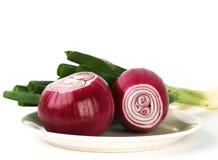 Cipolla rossa Fotografie Stock