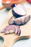 Cipolla tagliata Fotografia Stock