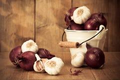 Cipolle & aglio Immagini Stock Libere da Diritti